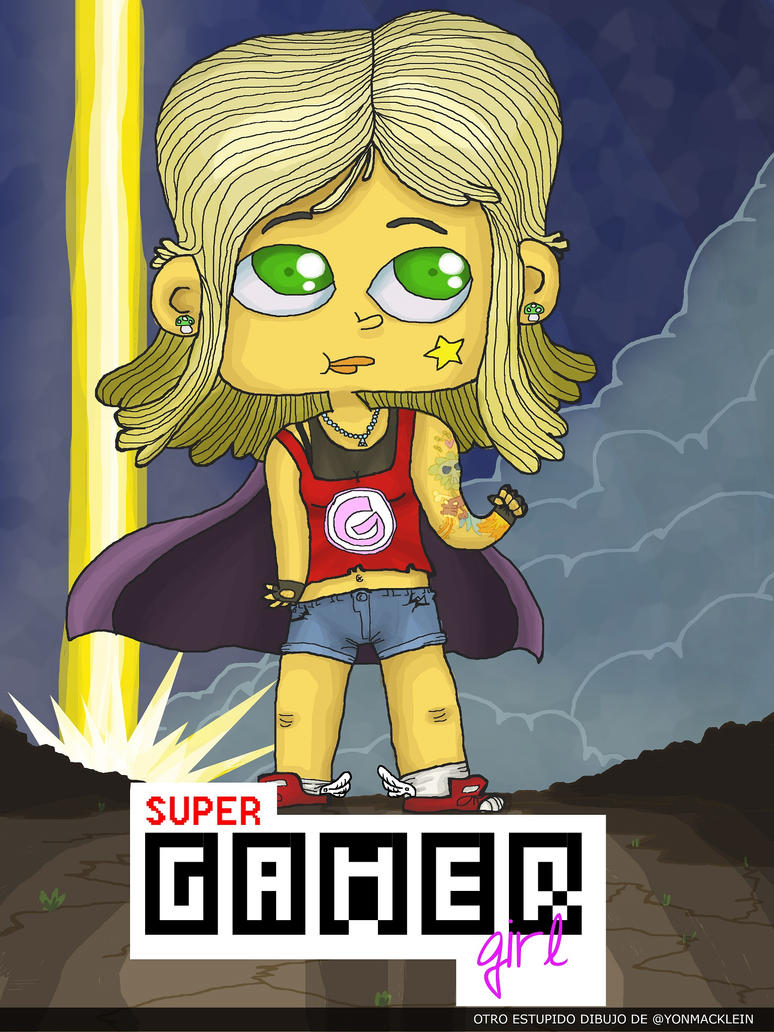 Super Gamer Girl by yonmacklein