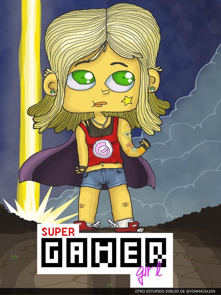 Super Gamer Girl by yonmacklein