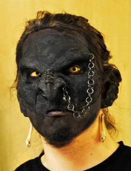 Draugur the Orch-shaman's face