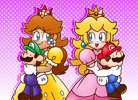 The Princesses with Their Epic Gamer Plushies