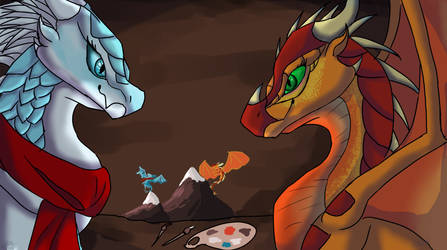 Cave painting! by shiny-glaceon101