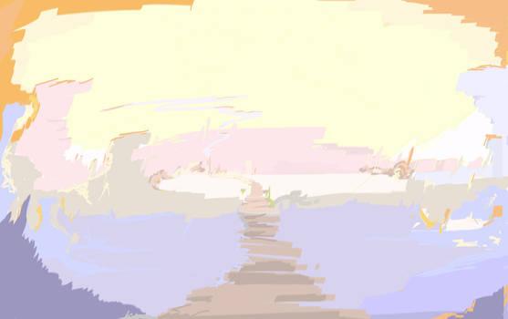 Enviroment concept art: Morning Canyon attempt