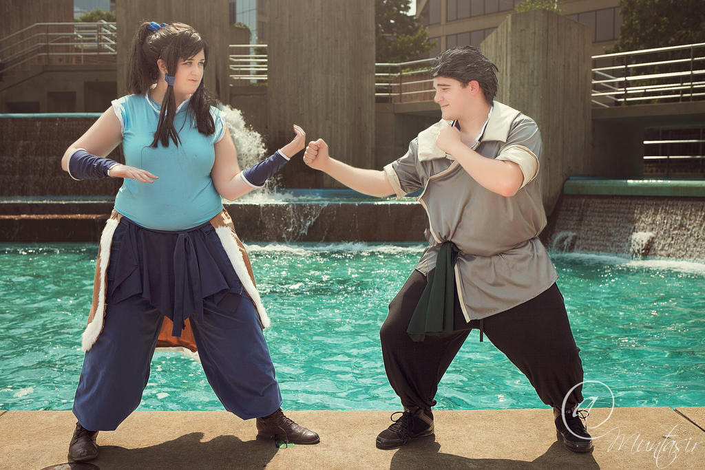 Korra vs Bolin by AmericanNia