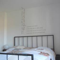 calligraphed bedroom nr 1