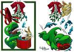 Dinnersaurus Holiday Card: Baby and Bunno