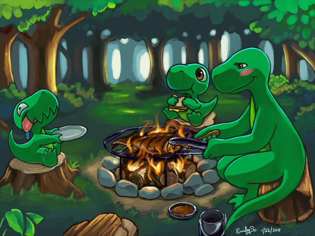 Dinnersaurus Rex Campfire Cooking By Kiiroikimono