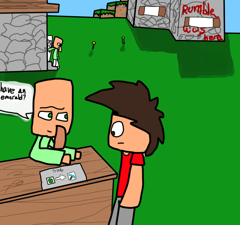 MINECRAFT: Villager Trading by SpecialRumble65 on DeviantArt