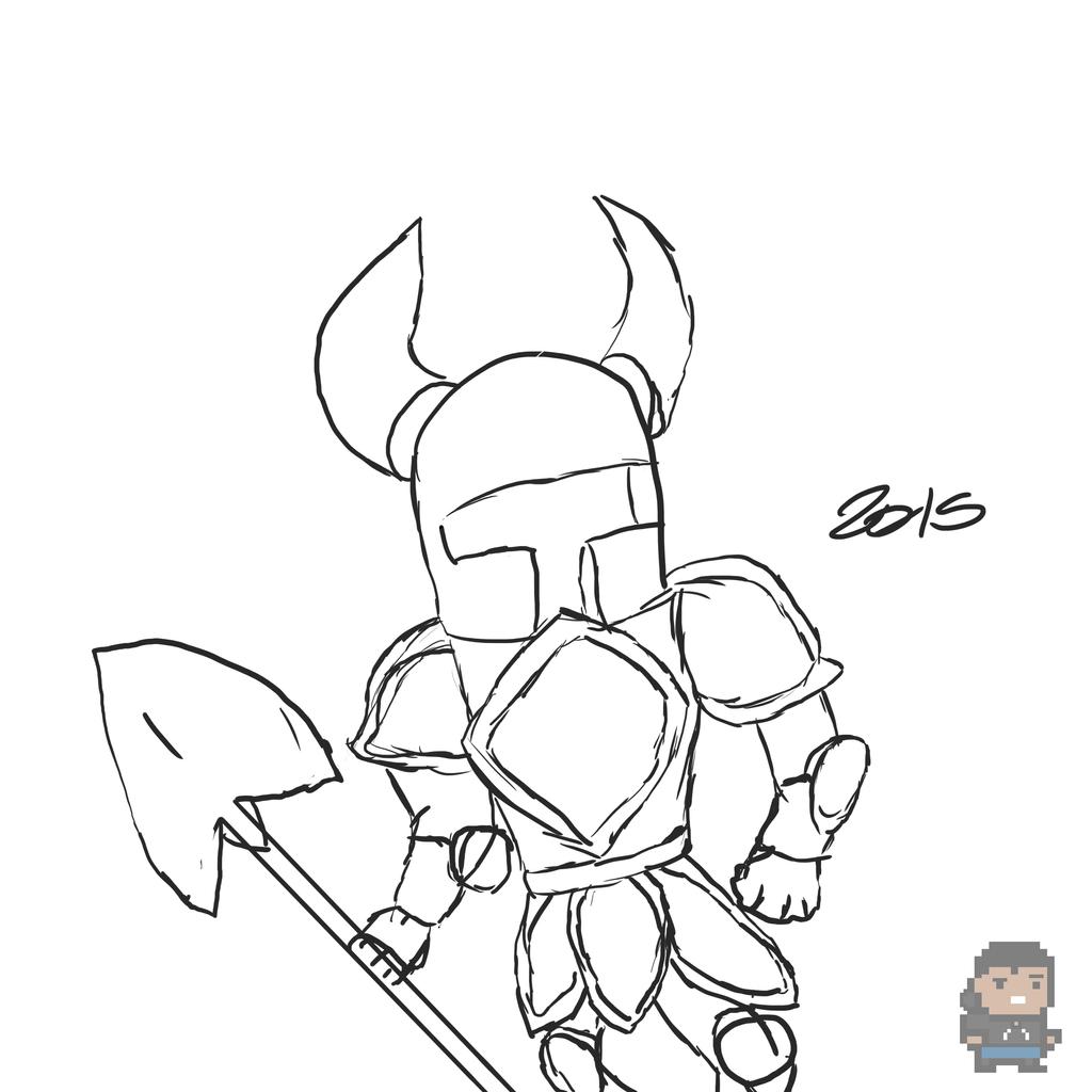 Shovel Knight Sketch By Mkjake63