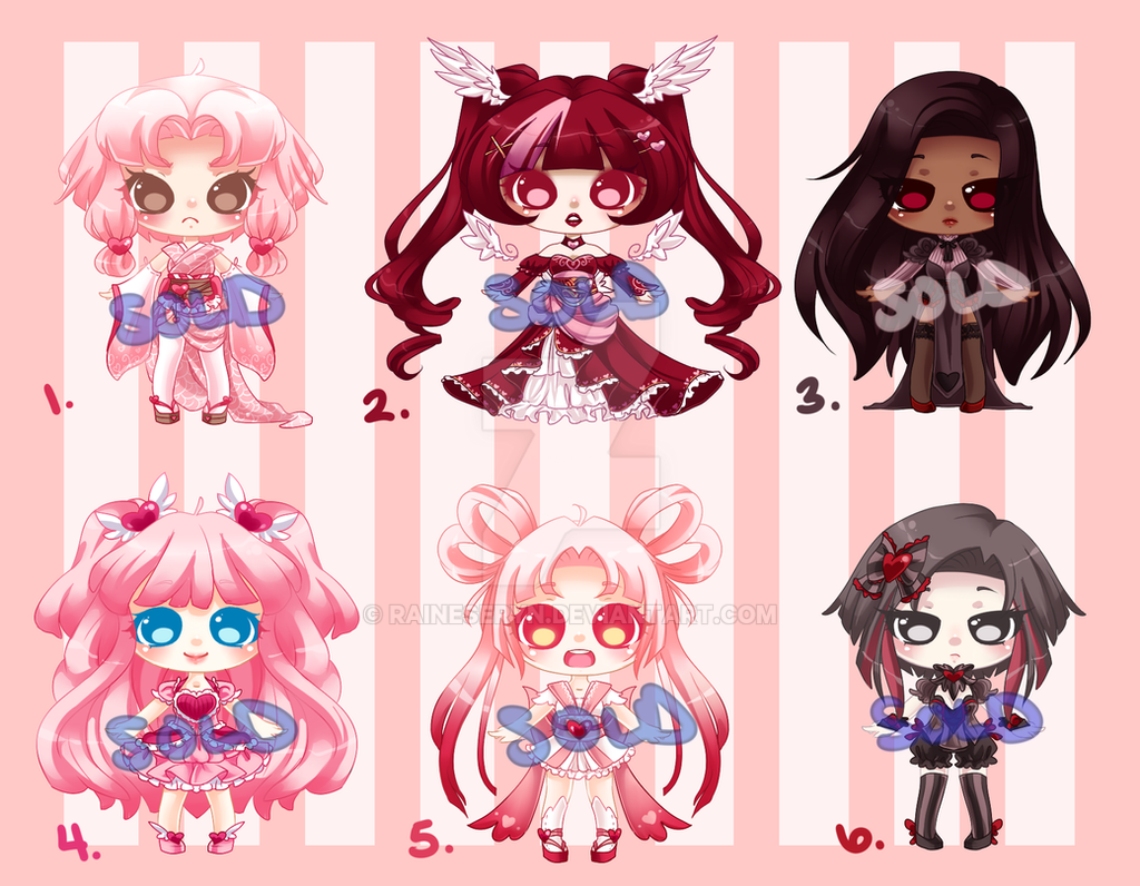 Cutie Valentine Adopts: : CLOSED by RaineSeryn