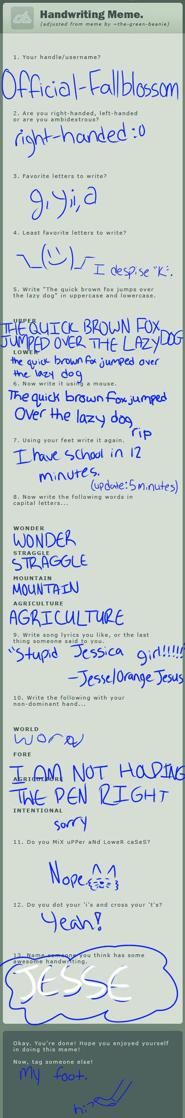 Handwriting Meme by Official-Fallblossom
