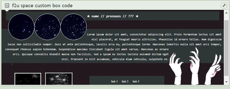 f2u space custom box code by Official-Fallblossom