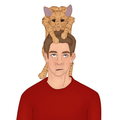matt and the cat by Official-Fallblossom