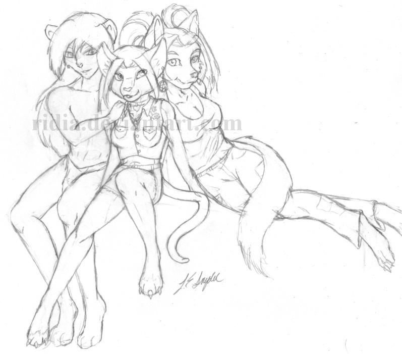 The Trio by ridia