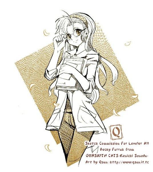 Becky Farrha sketch by Qsan by Unidad26