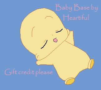 Sleeping Baby Base by Heartiful