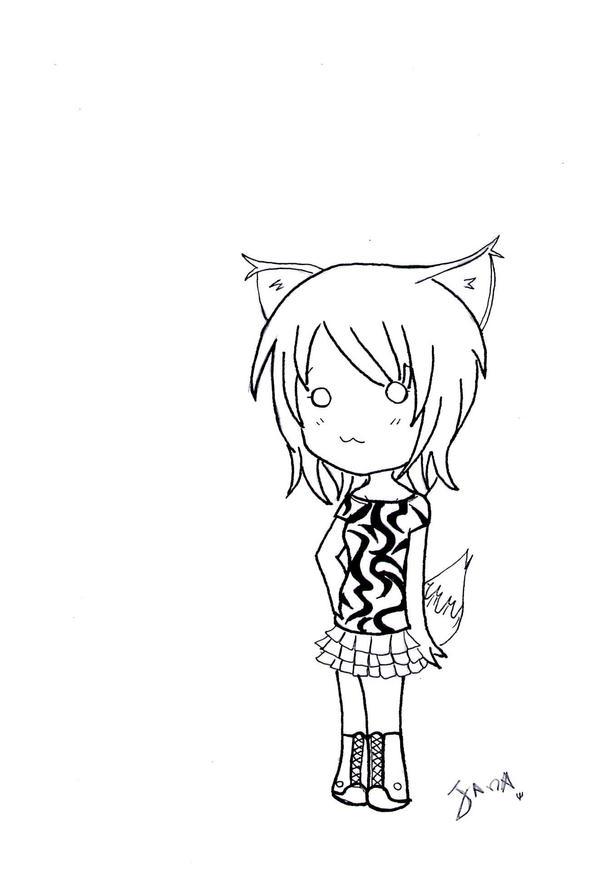 Fox Girl Drawing chibi girl fox by dudI-Yuki
