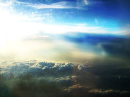 Clouds from airplane by Frostegard