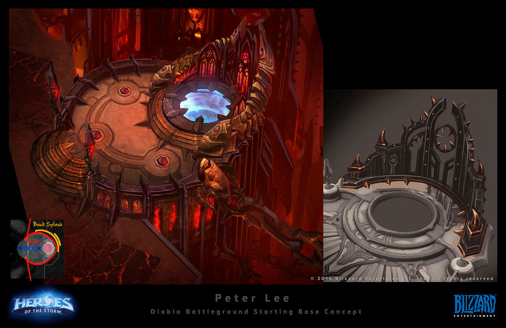 Hell Starting Platform by peterconcept