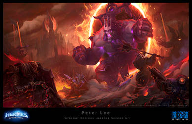Loading screen for the Heroes of the storm