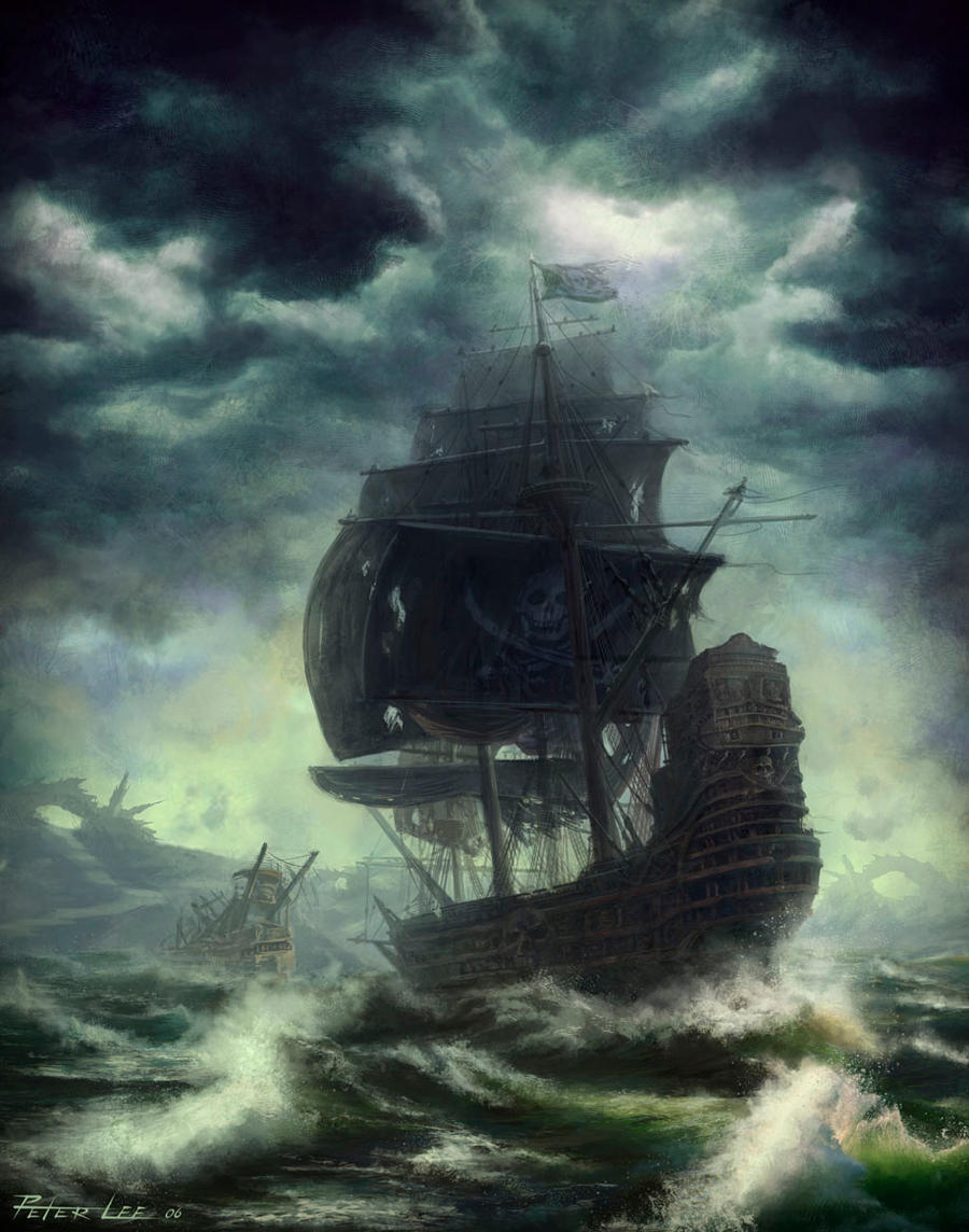 Pirate in the storm by peterconcept