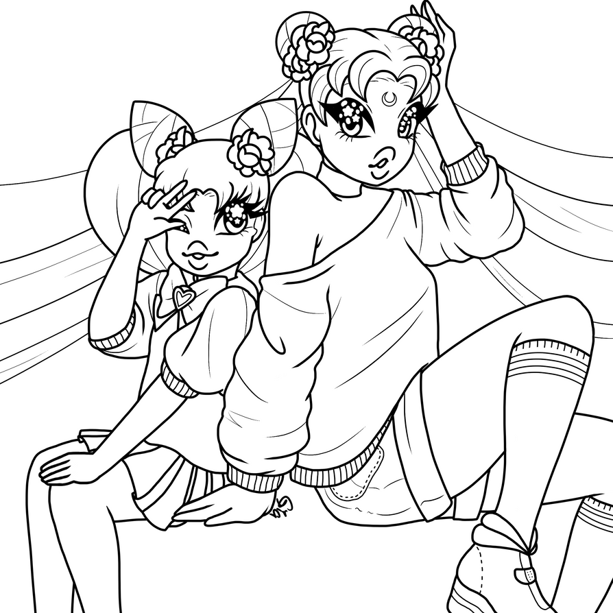 coloring page sailor moon by gianella baby on deviantart