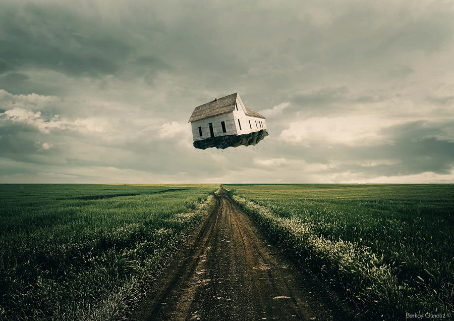 Flying house by erolberkay298 on deviantart for Flying haus