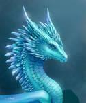 Blue cristal dragon