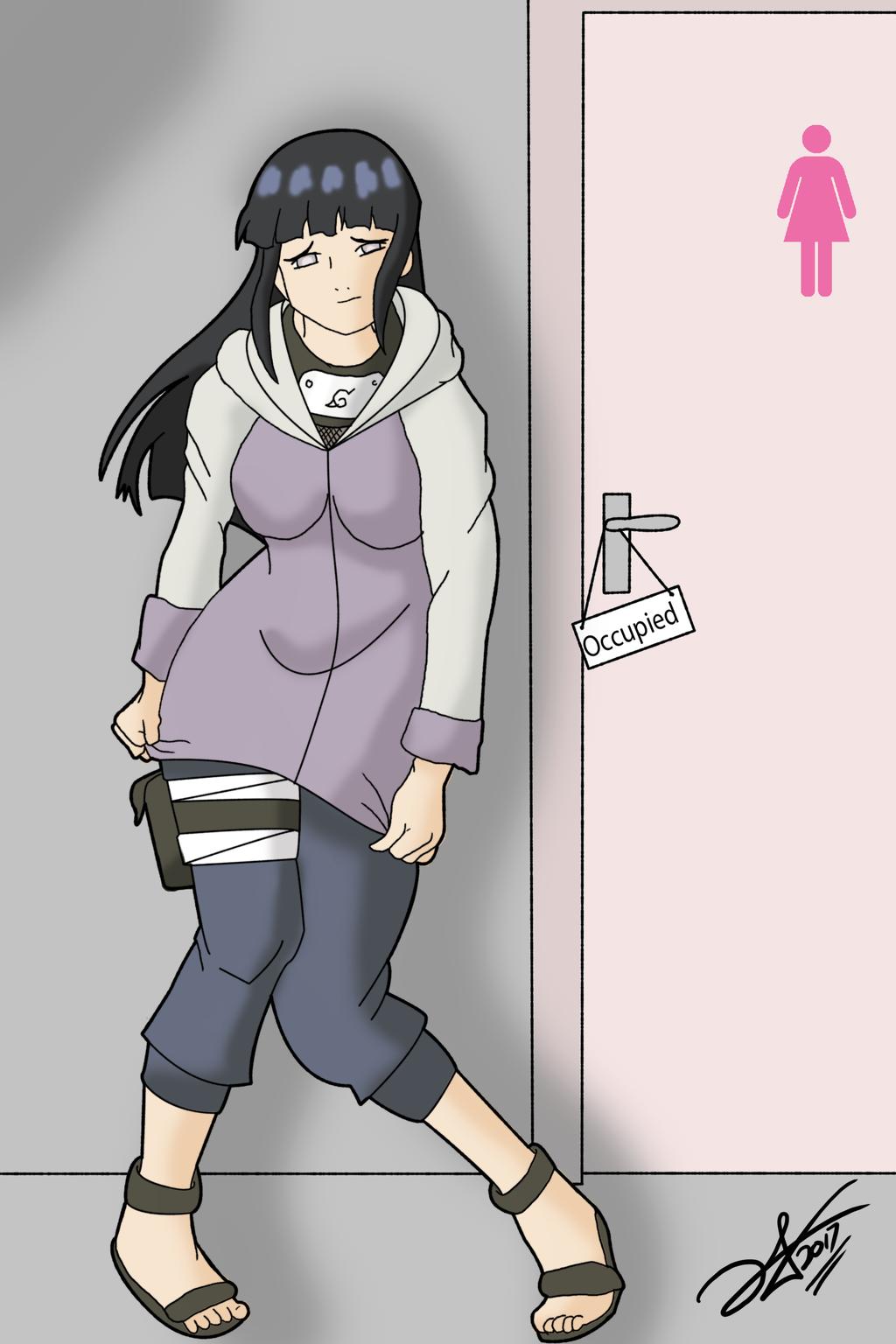 Anime girl shitting