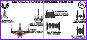 Star Wars AU -- Fighter Craft
