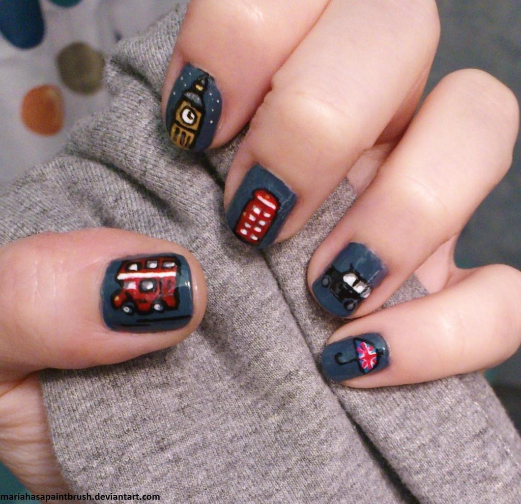 Nail Art London: London Inspired Nails By MariaHasAPaintBrush On DeviantArt