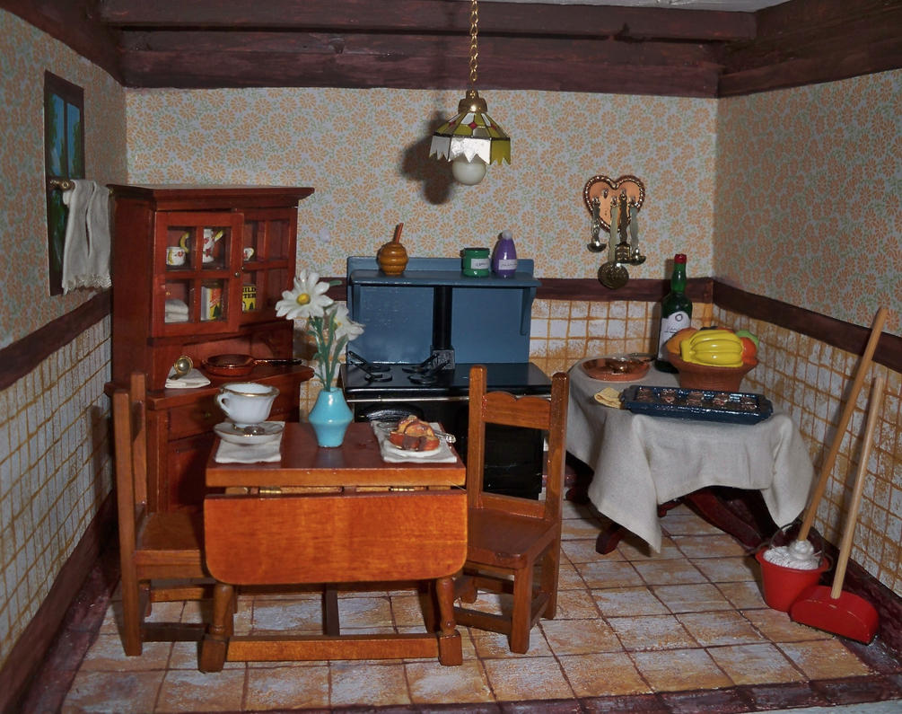 Dollhouse Kitchen by MariaHasAPaintBrush