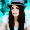 Lucy Hale Turquoise Icon by KissingButterfly