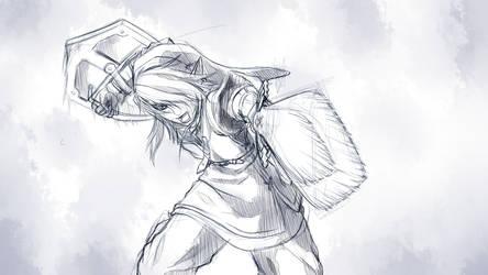 Twilight Princess - Link Sketch by Vanish-Mantle