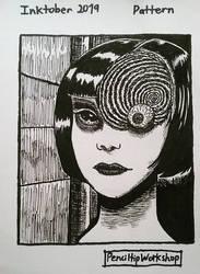 Inktober-Day 10- Junji Ito's Uzumaki (art study)
