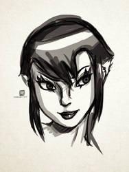 Sketch: Karai! c= by KatanaBerry