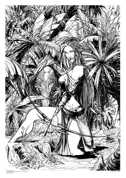 Slayhem: Ravensthorne  Print 2 -Na'lara'lene by andrewlawart