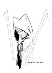 Ahsoka Tano fan-art sketch by andrewlawart