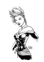 Captain Marvel by andrewlawart