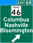 Sign Art - I-65 IN Exit 68