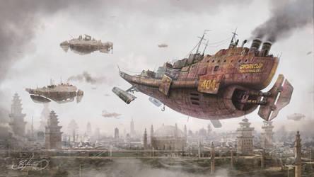 Return to Steam City by Simon Buckroyd by Binoched