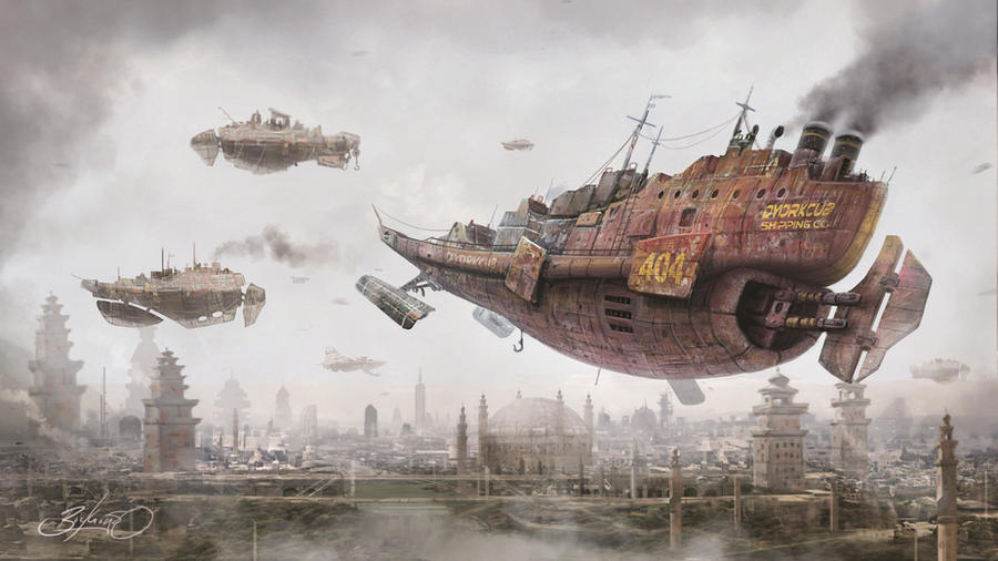 Return to Steam City by Simon Buckroyd by Binoched