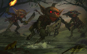 Pathfinder Goblins by Simon Buckroyd by Binoched