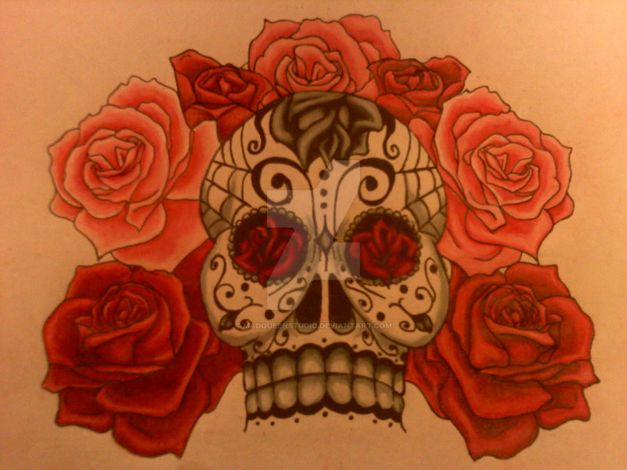 sugar skull and rose designs 9867761