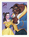 Beauty and the Beast Postage by stampsbyeilonwy