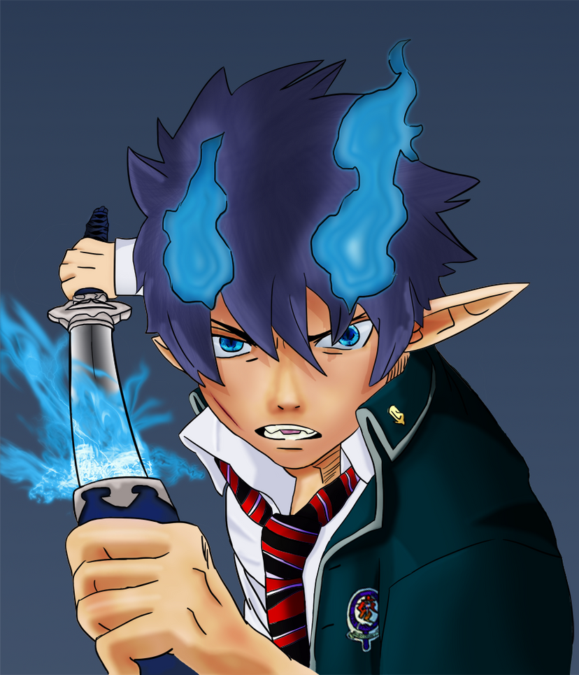 <b>Rin Okumura</b> - Blue Flame by coldheart572 <b>...</b> - rin_okumura___blue_flame_by_coldheart572-d3i7wno