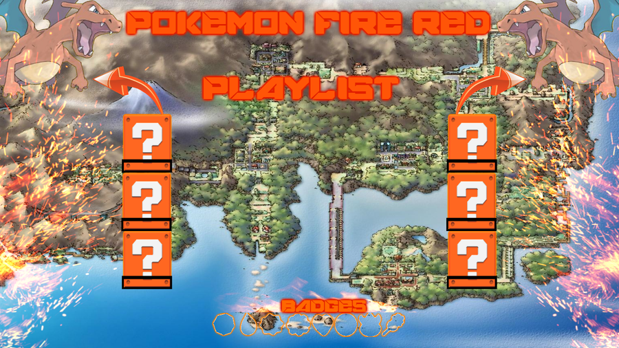 Pokemon Fire Red Sidebars by CyberChimchar on DeviantArt