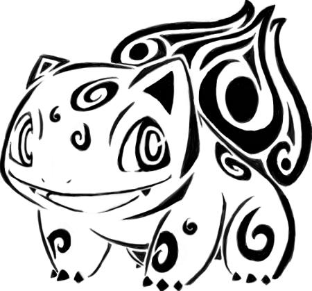 Tribal Bulbasaur by karouki