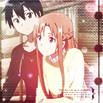 Kirito and Asuna Icon by hitsuhinabby