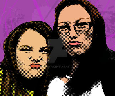 Kirsty and Shannon Pop Art by Madisya