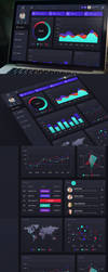Web Dashboard UI by 1PSD